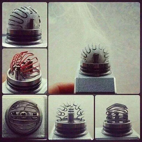 This is real cool I will have to try one of these builds for the heck of it. I can tell it will waste a lot of juice with the cotton set up this way and will shrink off the coil when wet. Maybe if you weave it a bit through the coil. maybe it works just fine the way it is. Built one and this coil works ok I will put it in the show category.