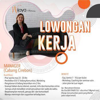 Lowongan Kerja Wijaya Platinum Skincare Cirebon Marketing