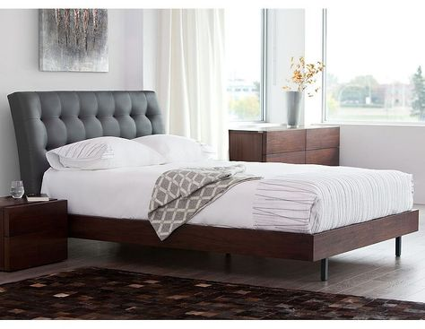 Structube Bedroom Chambre A Coucher Beds Lits Swami Brown