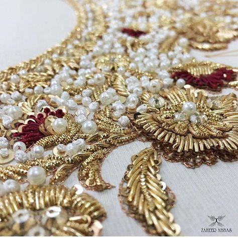 Son tout sur les détails 👀😍✨👌🏻 #ZaheerAbbas #bridal #zoomingin #inthemaking