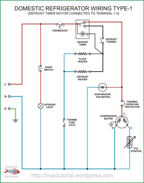 Domestic Refrigerator Wiring Circuit Diagram Electrical Diagram Electrical Wiring Diagram