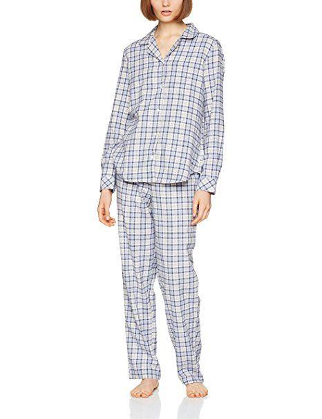 best service 3bd75 cc7ca Seidensticker Damen Zweiteiliger Schlafanzug Flanell Pyjama ...