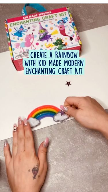 Easy Pipe Cleaner Rainbow DIY