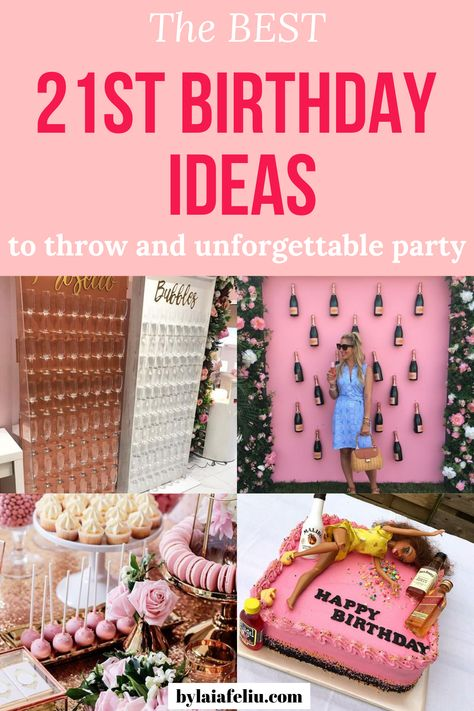I'm turning 21 this year and I'm looking forward to it. If you're turning this year and need inspiration, these are the best birthday ideas. 21st Birthday Games, 21st Birthday Cake For Girls, 21st Bday Ideas, Cute Birthday Cakes, Birthday Diy, Birthday Parties, Birthday Beer, Best 21st Birthday Gifts, 21st Birthday Ideas For Girls Turning 21