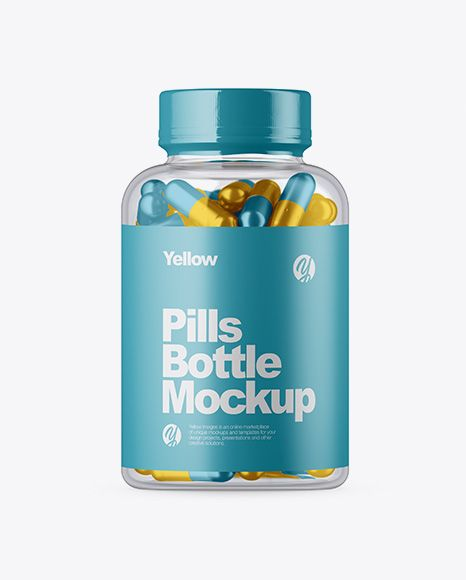 Clear Glass Bottle W Metallic Pills Mockup In Bottle Mockups On Yellow Images Object Mockups Bottle Mockup Mockup Free Psd Mockup Psd