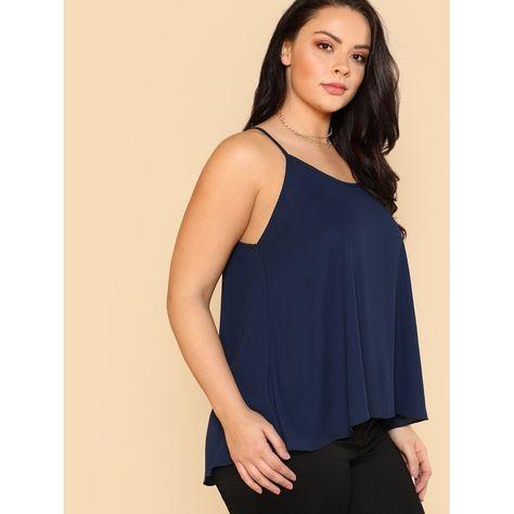 Plus Swing Longline Cami Top | SHEIN | Cami tops, Plus size