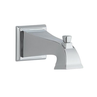 Delta Faucet Wall Mounted Bathtub Faucet Rp52148 Dryden 7 1 2 In Non Metallic Pull Up Diverter Tub Spout Delta Faucets Bathtub Faucet Faucet