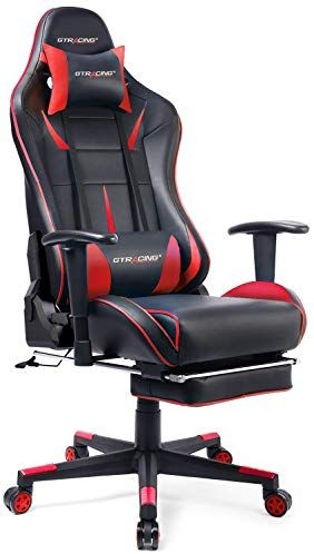 Gtracing Gaming Chair Ergonomic Office Chair With Footrest Heavy