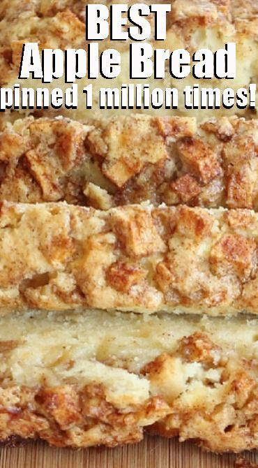 Cinnamon Apple Bread - The Best iPhone, Samsung, ios and android Wallpapers & Backgrounds Dessert Bread, Köstliche Desserts, Easy Apple Desserts, Apple Deserts, Cinnamon Desserts, Cinnamon Apples, Apple Cinnamon Loaf, Cinnamon Sugar Bread, Baked Apples