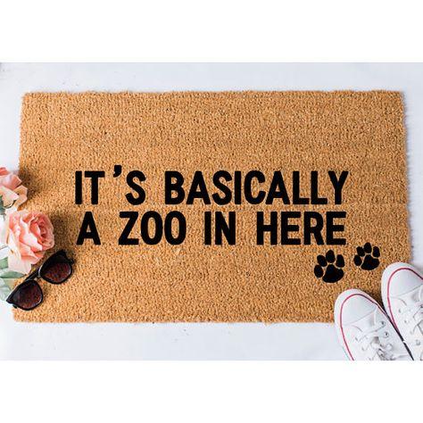 Zoo in Here Doormat - Dog Doormat - Funny Doormat - Funny Doormats - Welcome Mat - Goldendoodle Door
