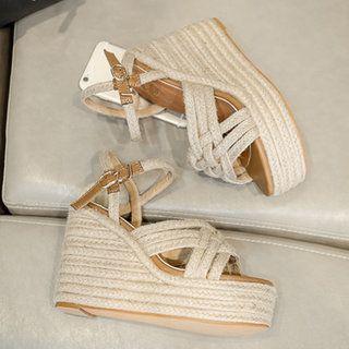 698f3c419ac2 Shop Women s Shoes - Elegant Mesh Sequin Peep Toe Chunky Heel Slippers  online. Discover unique designers fashion at JustFashionNow.com.