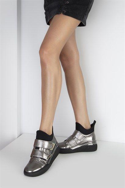 White Beyaz Deri Bayan Spor Ayakkabi Ilvi Ayakkabilar Sneaker Bayan Ayakkabi