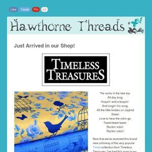 Tweet In Yellow From Timeless Treasures Is Now Available At