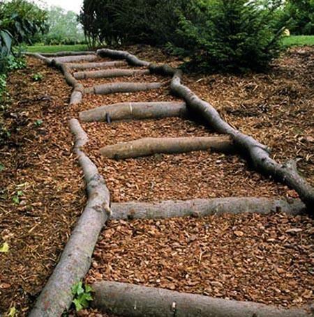 Natural Landscaping Ideas Wooden Garden Paths Natural Landscaping Outdoor Stairs Landscape Design