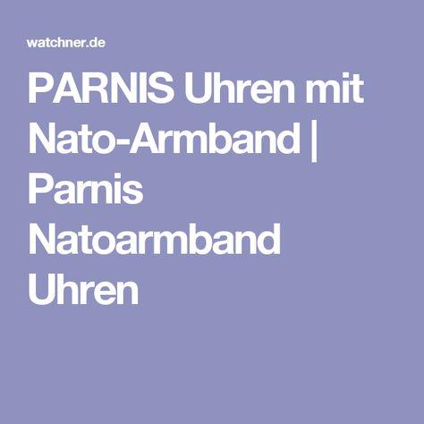 PARNIS Uhren mit Nato-Armband | Parnis Natoarmband Uhren