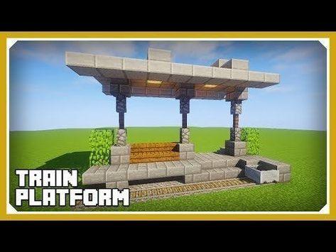 Minecraft Anleitung Zum Erstellen Einer Zugplattform Easy