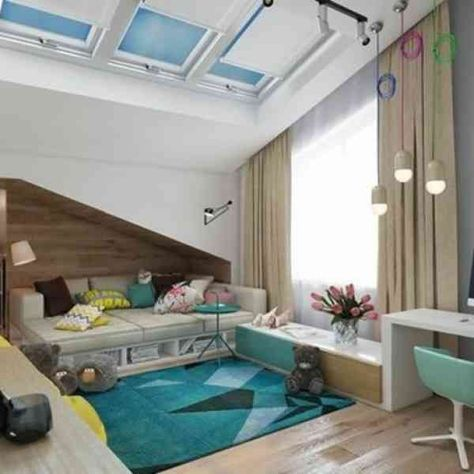 Attic Window Curtains Ideas And Solutions To Inspire You Loft Spaces Wall Art Decor Living Room Curtain Designs