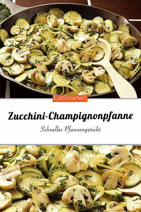 Schnelles Pfannengericht mit Champignons und Zucchini. Das perfekte Abendessen   eatsmarter.de #zucchini #lowcarb #rezept