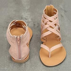 Details about  /Womens Mid Block Heel Open toe Strappy Summer Shoes Gladiator Roman Sandals Plus