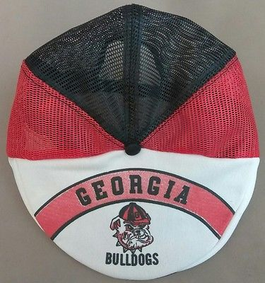 ac2b9866e69 Vintage Georgia Bulldogs Snap Back Mesh Driving Cap Hat