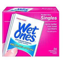 Wet Ones Antiba Counterial Wipes 24 Count Hand Sanitizer