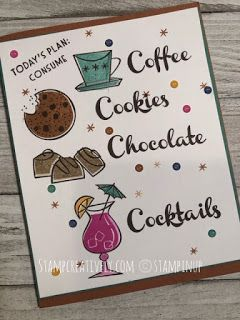 stampcreatively: Loving the - Nothings Better Than Suite Chocolate Card, Make Your Own Card, Coffee Cards, Stampin Up Catalog, Fancy Fold Cards, Stamping Up Cards, Recipe Cards, Homemade Cards, Cardmaking
