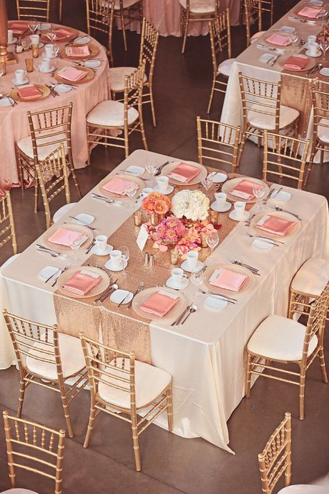 Wedding rose gold theme - Wedding Ideas By Colour Rose Gold Wedding Theme Décor and Details CHWV Pink And Gold Wedding, Gold Wedding Theme, Blush And Gold, Blush Pink, Wedding Peach, Wedding Flowers, Spring Wedding, Rose Gold Weddings, Coral Wedding Colors