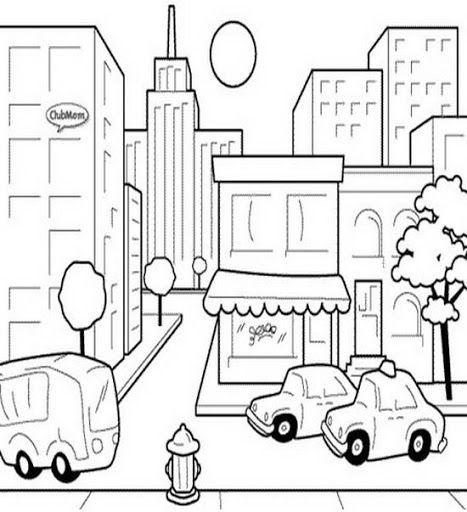 Resultado De Imagen Para Campo Y Ciudad Para Colorear Coloring For Kids Coloring Pages Super Coloring Pages