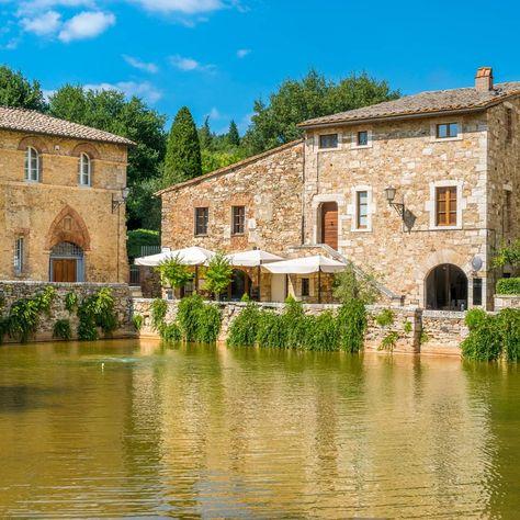 Bagno Vignoni Tuscany Italy Stock Photos Italy Photography