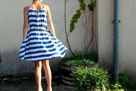 DIY - Une robe d'été toute simple a faire. Patron gratuit