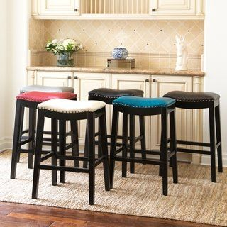 Copper Grove Divjake 26 In Bonded Leather Saddle Counter Stool Bar Furniture Dining Room Bar Stool