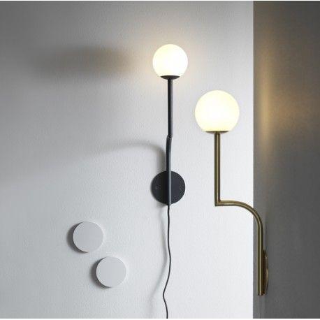 Sieninis Sviestuvas Mobile Black Wall Lamps Wall Lights Brass Wall Light