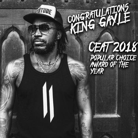 Three cheers time. Attiitude.com congratulates the Brand Ambassador on bagging the CEAT 2018 - Popular Choice Award.  #Myattiitude #chrisgayle #universeboss #Undergroundfashion