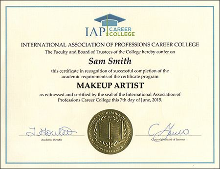 Awesome Accredited Online Makeup Artist Certification And View In 2020 Certificate Courses Career College Importance Of Time Management