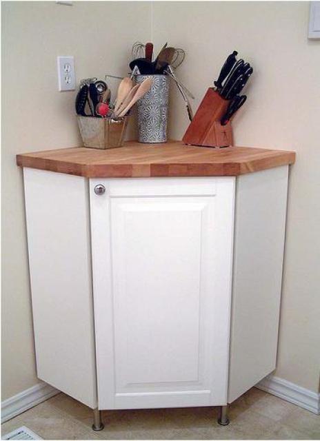 Corner Cabinet Countertop Hack Organize It Kitchen Corner
