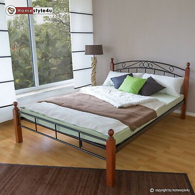 Bett Metallbett Bettgestell Ehebett Doppelbett Bettrahmen Lattenrost 160 X 200 Ebay Bettgestell Haus Designer Bett