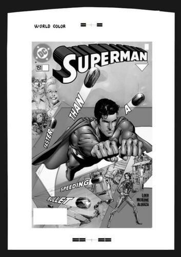 Phil Jimenez Superman 151 Rare Large Production Art Cover Ebay Comic Art Classic Artwork Superman