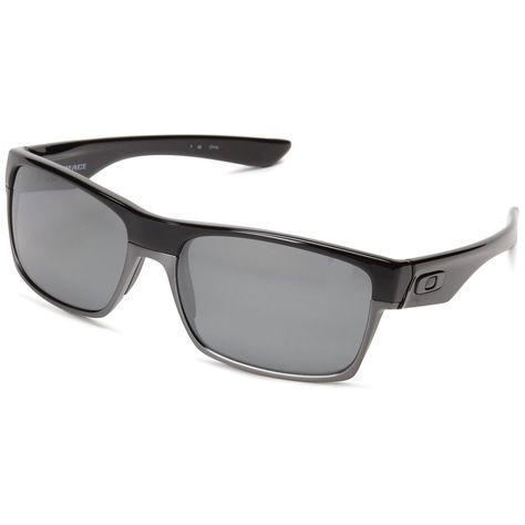 345a3b0b0d Oakley TwoFace Polarized Sunglasses Polished Black Frame Black Iridium Lens