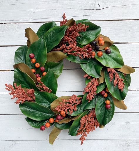 Give your entryway its own seasonal style update with this fall-friendly wreath.