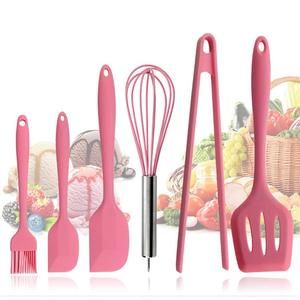 6pc Pink Silicone Cookware Utensil Set In 2020 Silicone Kitchen