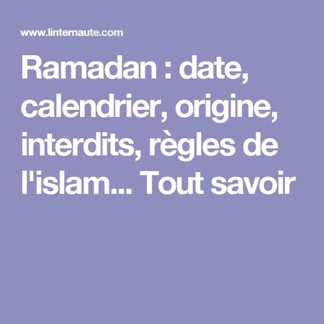 règles pour la datation pendant le Ramadan