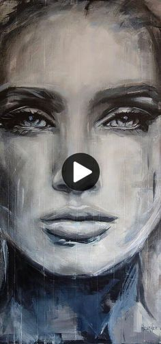 Belle Expression Artistique Art Aquarelle Visage Maquillages