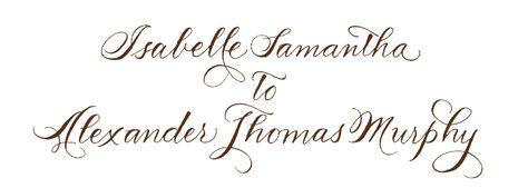 Calligraphy, wedding calligraphy, calligraphy styles | Bella Figura