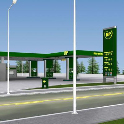 Bp Gas Station 3d Model Com Imagens Arquitetura Moderna Posto De Gasolina Arquitetura