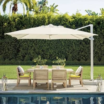 Altura Cantilever Umbrella Frontgate In 2020 Patio Rectangular Dining Set Outdoor Garden Furniture
