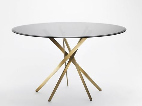 Tavolo acciaio ~ Tavolo rotondo in acciaio e vetro iki tavolo in vetro by adentro