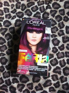 Purple L Oreal Paris Feria Hair Dye L Oreal Paris Cheveux Prune