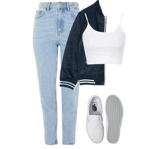 #381 - /market/ levi's jeans - primark bomber jacket - intimissimi crop top - h&m slip on shoes ( polyvore >> glamoutfit app or stuffnstyle.com)