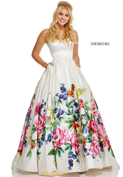 44d95b54c65 Look like a modern day princess at your senior prom in this gorgeous Sherri  Hill prom