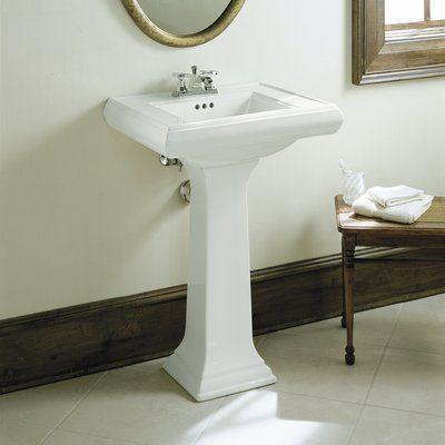 Kohler Memoirs Ceramic 24 Pedestal Bathroom Sink With Overflow